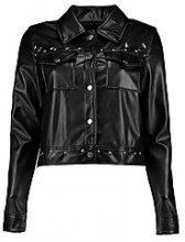 Zoe giacca in stile motociclista con borchie e stelle