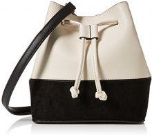 New Look Mono Duffle - Borse Bowling Donna, Bianco (White), 8x19x22 cm (W x H L)