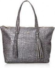 Gaudì Shopping-Linea Alicia-cm.35x30x14, Borsa a Mano Donna, Grigio (Grey), 35x30x14 cm (W x H x L)