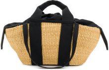 Muun - George basket tote - women - Straw/Cotton - OS - NUDE & NEUTRALS