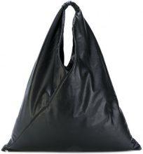 Mm6 Maison Margiela - borsa tote oversize - women - Polyester/Polyurethane/Viscose - OS - BLACK