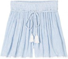 FIND Shorts a Righe Donna, Blu (Blue Striped), 46 (Taglia Produttore: Large)