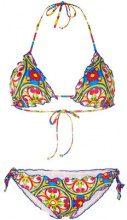 Mc2 Saint Barth - Bikini a fantasia - women - Polyamide/Spandex/Elastane - S - MULTICOLOUR