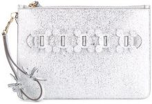 Anya Hindmarch - Pochette 'Circulus' - women - Leather - OS - Grigio