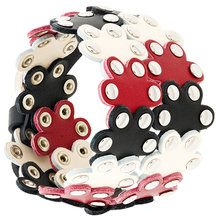 Red Valentino - Bracciale 'Flower Puzzle' - women - Leather - OS - Multicolore