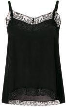 Twin-Set - lace-hem camisole top - women - Silk/Viscose/Polyester/Polyamide - XS - BLACK