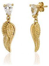 Ingenious Jewellery-Orecchini pendenti in argento, a forma di ali d'angelo EB4137/GLD