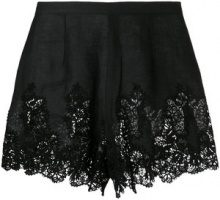 Ermanno Scervino - Shorts in pizzo - women - Cotton/Linen/Flax/Polyester - 42, 38, 40, 44 - BLACK
