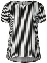 Street One 311902 Fita, T-Shirt Donna, Mehrfarbig (Off White 20108), 48