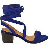 Donna Da Ritagliare Tacco Basso E Largo Con Lacci Cinturino Alla Caviglia Polpaccio Scarpe Estive Sandali Misura