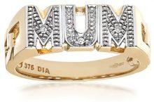 Naava Anello da Donna in Oro Giallo 9K con Diamante 0.015ct