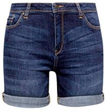 ESPRIT 048ee1c009, Pantaloncini Donna, Blu (Blue Dark Wash 901), W27