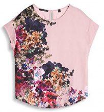ESPRIT Collection 037eo1k029, T-Shirt Donna, Rosa (Nude), 38 (Taglia Produttore: Medium)