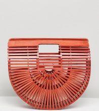My Accessories - Pochette rossa piccola con stecche - Rosso