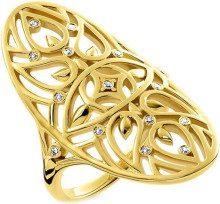 THOMAS SABO FASHIONRING - Anello, con Diamante, Placcato oro, misura 54 (17.2)