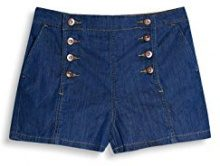 edc by Esprit 057cc1c001, Shorts Donna, Blu (Blue Medium Wash), W34 (Taglia Produttore: 34)