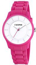 Calypso-Orologio Unisex al quarzo con Display analogico e cinturino in plastica, colore: rosa, K5671/4