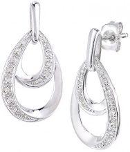Naava Orecchini da Donna in Oro Bianco 9K con Diamante