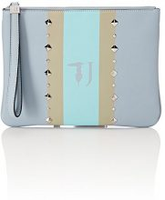 Trussardi Jeans Blondie, Pochette da Giorno Donna, Blu (Light Blue), 31x22.5x4 cm
