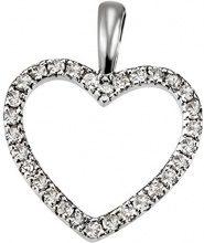 Goldmaid Collana con Pendente da Donna Oro bianco Rotondo Diamante Bianco