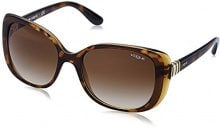 Vogue 0VO5155S 238613, Occhiali da Sole Donna, Marrone (Top Havana/Brown/Browngradient), 55