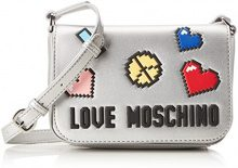 Love Moschino Borsa Soft Nappa Pu Argento - Borse Baguette Donna, (Silver), 6x14x20 cm (B x H T)
