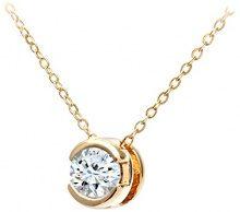 Naava Collana con Pendente da Donna, Oro Giallo 375/1000 9 Carati, Diamante