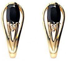 Ivy Gems Donna  9 carati  oro giallo Ovale   nero Zaffiro