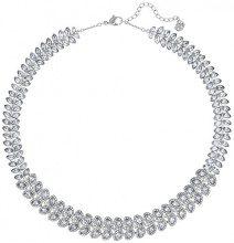 Swarovski collana girocollo da donna, con Baron cristalli trasparenti e placcata argento, 38,0cm–5117678