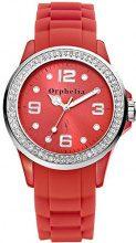 Orphelia OR25100077 - Orologio da polso donna, silicone, colore: rosso
