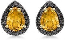 Carissima Gold - Orecchini a Lobo da Donna in Oro Giallo 9K (375) con Diamante, 0.23 K