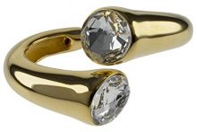Kenneth Jay Lane Donna    placcato oro Rotonda   trasparente Vetro
