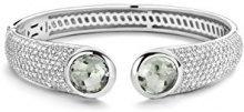 TI SENTO MILANO Donna 925 placcato rodio argento Rotonda verde Cristallo Zirconia cubica FASHIONNECKLACEBRACELETANKLET
