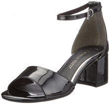 Marco Tozzi 28316, Sandali con Cinturino alla Caviglia Donna, Nero (Black Patent), 40 EU