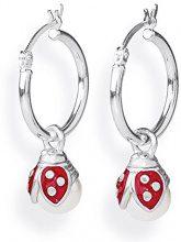 Heartbreaker, ciondolo per orecchini, da donna, modello Lucky, per orecchini a cerchio, in argento 925 smaltato, bianco perla, LD MR 49