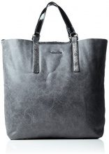 Tamaris Amber Shopping Bag - Borsa Donna, Grau (Graphite Comb.), 11x38x33 cm (B x H T)