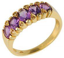 Ivy Gems-Pendente in oro giallo 9 kt, con diamanti e ametista Anello Half Eternity, oro giallo, 56 (17.8), cod. 133R1457-12/AMO