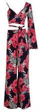 Becca coordinato top monospalla con stampa tropicale e pantaloni