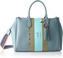 Trussardi Jeans Blondie, Borsa Tote Donna, Blu (Light Blue), 40x43x23 cm