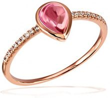 Goldmaid Anello da Donna, Oro Rosa, Tormalina e Diamante, Misura 58 (18.5)