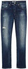 FIND Jeans Dritti Uomo, Blu (Hardin Damaged Wash), W36/L32 (Taglia Produttore: 36)