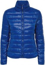 ONLY Solid Quilted Jacket Women Blue