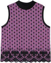 FIND Lace Hem Spot Camicia Donna, Multicolore (Orchid/Black), 46 (Taglia Produttore: Large)