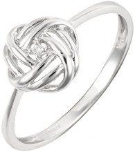 Ivy Gems Donna  9 carati  oro bianco Rotonda   I bianco Diamante