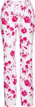 Pantalone in misto lino fantasia (Bianco) - bpc selection