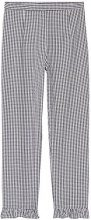 FIND Pantaloni Cropped Gingham Donna, Nero (Black/white Check), 48 (Taglia Produttore: X-Large)
