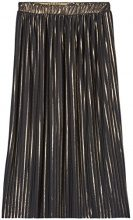 FIND Pleated Midi  Gonna Donna, Nero (Black/gold), 42 (Taglia Produttore: Small)