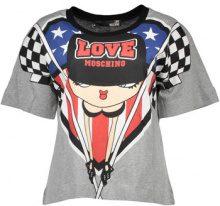 T-shirt Love Moschino  W 4 F16 01 M 3517 T-SHIRT MANICHE CORTE Donna GRIGIO B588