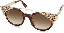JIMMY CHOO Vivy/S JD BHZ, Occhiali da Sole Donna, Oro (Hvn Rose Gold/Brown Sf), 51