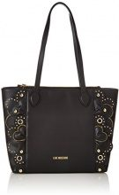 Love Moschino Borsa Vitello Smooth Nero - Borse Tote Donna, (Black), 10x28x42 cm (B x H T)